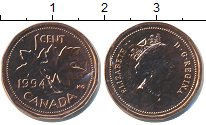Изображение Монеты Канада 1 цент 1994 Бронза UNC