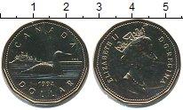 Изображение Монеты Канада 1 доллар 1994 Латунь UNC `Елизавета II.  Черн