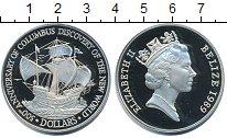 Изображение Монеты Белиз 25 долларов 1989 Серебро Proof