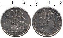 Изображение Монеты Новая Зеландия 50 центов 2006 Медно-никель XF