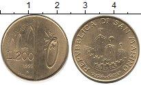 Изображение Монеты Сан-Марино 200 лир 1993 Латунь UNC