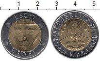 Изображение Монеты Сан-Марино 500 лир 1996 Биметалл UNC