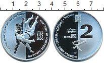 Изображение Монеты Израиль 2 шекеля 2008 Серебро Proof Олимпийская делегаци