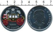 Изображение Монеты Канада 25 центов 2007 Серебро UNC 60 лет свадьбы Елиза