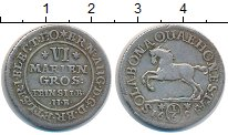 Изображение Монеты Брауншвайг-Люнебург-Каленберг-Ганновер 1/6 талера 1694 Серебро XF- Эрнст Август