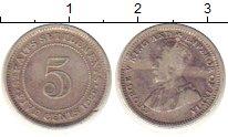 Изображение Монеты Стрейтс-Сеттльмент 5 центов 1926 Серебро VF