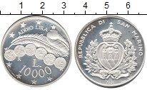 Изображение Монеты Сан-Марино 10000 лир 2001 Серебро Proof