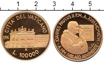 Изображение Монеты Ватикан 100000 лир 1996 Золото Proof-