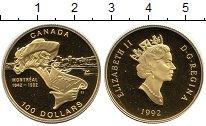 Изображение Монеты Канада 100 долларов 1992 Золото Proof-