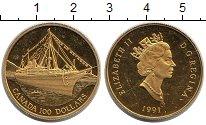 Изображение Монеты Канада 100 долларов 1991 Золото Proof-