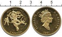 Изображение Монеты Канада 200 долларов 1991 Золото Proof-