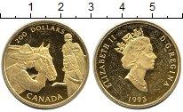Изображение Монеты Канада 200 долларов 1993 Золото XF KM#244. Конная полиц