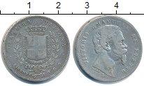 Изображение Монеты Италия 1 лира 1860 Серебро VF Флоренция.Виктор  Эм