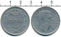 Изображение Монеты Румыния 100 лей 1943 Сталь XF Михай I