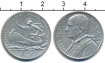 Изображение Монеты Ватикан 5 лир 1936 Серебро XF Пий XI