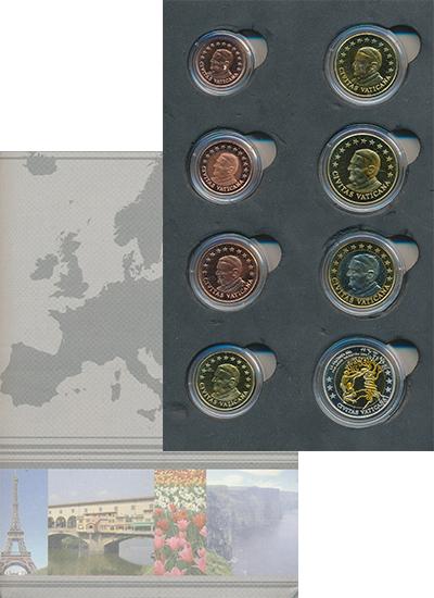 Изображение Подарочные монеты Ватикан Европроба 2010 года 2010  UNC