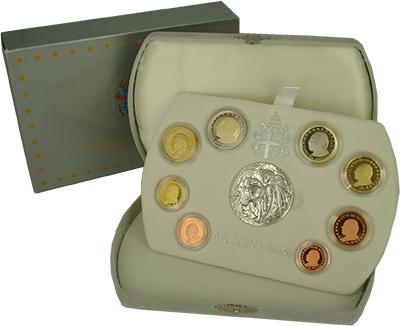 Изображение Подарочные монеты Ватикан Евронабор 2003 года 2003  Proof Набор из восьми моне