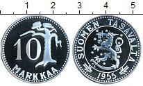 Изображение Мелочь Финляндия 10 марок 1955 Медь XF Новодел. Номинал и д