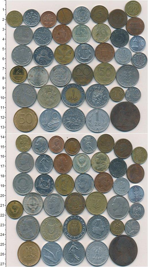 Изображение Лоты монет для начинающих нумизматов Монеты стран мира Лот №01252 0
