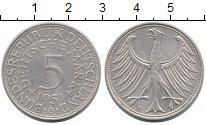 Изображение Монеты ФРГ 5 марок 1951 Серебро XF G