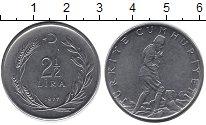 Изображение Мелочь Турция 2 1/2 лира 1977 Медно-никель XF