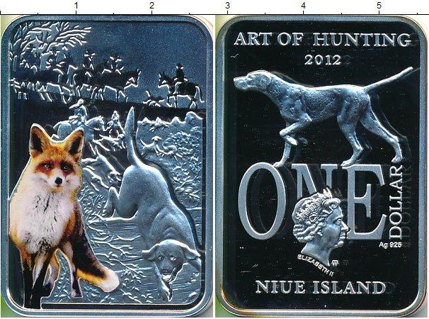 Картинка Подарочные монеты Ниуэ Охота на лис Серебро 2012