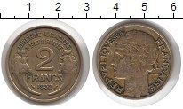 Изображение Монеты Франция 2 франка 1932 Латунь XF