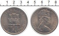 Изображение Монеты Гибралтар 1 крона 1970 Медно-никель UNC Елизавета II.  Герб
