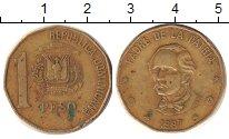 Изображение Дешевые монеты Доминиканская республика 1 песо 1997 Латунь XF
