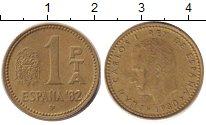 Изображение Дешевые монеты Испания 1 песета 1980 Бронза VF-
