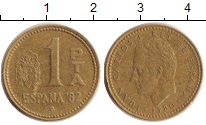 Изображение Дешевые монеты Испания 1 песета 1980  VF-