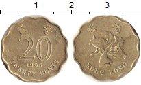 Изображение Дешевые монеты Гонконг 20 центов 1995 Латунь XF