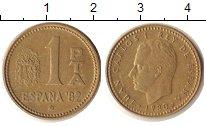 Изображение Дешевые монеты Испания 1 песета 1980 Бронза VF+