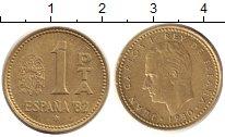 Изображение Дешевые монеты Испания 1 песета 1980 Бронза VF