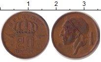 Изображение Дешевые монеты Бельгия 20 сентим 1953 Латунь XF-