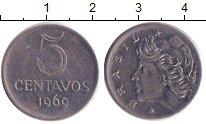 Изображение Дешевые монеты Бразилия 5 сентаво 1960 Медно-никель XF