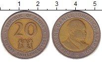 Изображение Барахолка Кения 20 шиллингов 1998 Биметалл XF