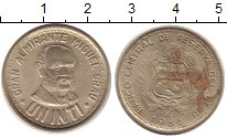 Изображение Барахолка Перу 1 инти 1980 Медно-никель XF-