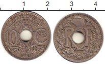 Изображение Барахолка Франция 10 сантимов 1938 Медно-никель XF- /
