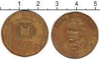 Изображение Дешевые монеты Доминиканская республика 1 песо 1993 Латунь XF /