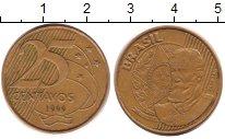 Изображение Барахолка Бразилия 25 сентаво 1999 Латунь XF