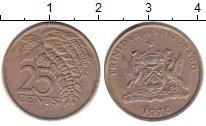 Изображение Барахолка Тринидад и Тобаго 25 центов 1976 Медно-никель XF