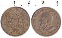 Изображение Дешевые монеты Кения 50 центов 1974 Медно-никель VF /