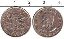 Изображение Барахолка Кения 50 центов 1978 Медно-никель XF-