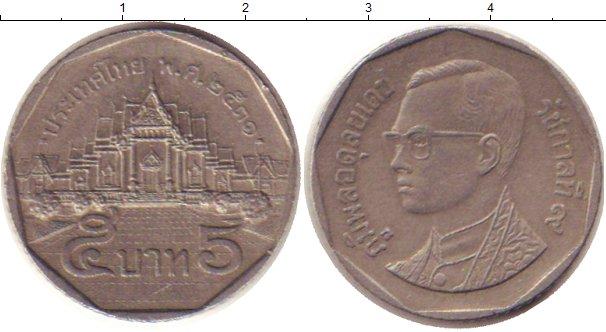 Картинка Дешевые монеты Таиланд 5 бат Медно-никель 2001