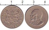 Изображение Барахолка Кения 50 центов 1966 Медно-никель XF /