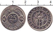 Изображение Барахолка Нидерланды 25 центов 1993 Медно-никель XF