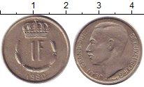 Изображение Барахолка Люксембург 1 франк 1980 Медно-никель XF