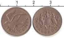 Изображение Барахолка Барбадос 10 центов 1980 Медно-никель XF /