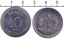 Изображение Дешевые монеты Бразилия 10 крузадо 1988 Сталь XF+
